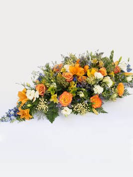 Funeral : Multicoloured Coffin Arrangement